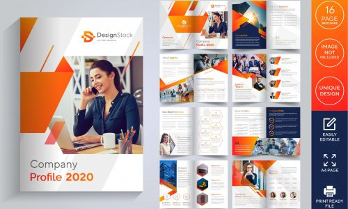 16 pages company profile brochure design